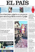 Photo: Los islamistas egipcios se preparan para una larga lucha contra el golpe, PSOE y PSC sellan su pacto federal rechazado por PP y nacionalistas y la mayoría de los votantes del PP cree que el partido toleró lo que hacía Bárcenas, en nuestra portada del domingo 7 de julio http://ep00.epimg.net/descargables/2013/07/07/4604c9538d7ebd99021ef7c1eee5a119.pdf