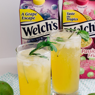 Fizzy Passion Fruit and Lime Cooler.