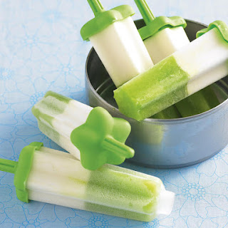 Pineapple, Lime and Coconut Popsicles