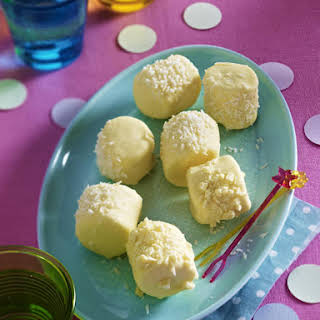 Coconut and White Chocolate Marshmallows.