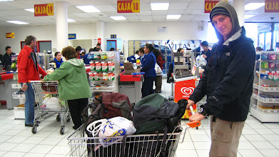 Photo: Grocery shopping backpacker style