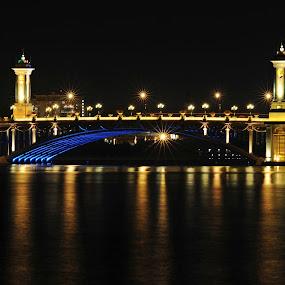 starry starry night by Jordan Toh - Novices Only Landscapes ( night scene, seri gemilang, long exposure, bridge, light )