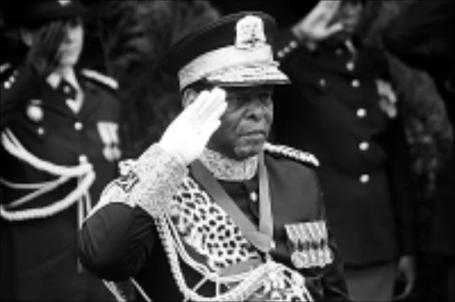VOICE OF REASON: Zulu monarch Goodwill Zwelithini. 17/02/09. © Unknown.