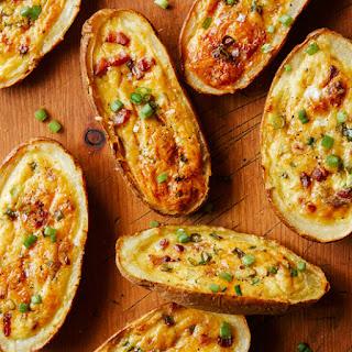Potato Skin Egg Boats.