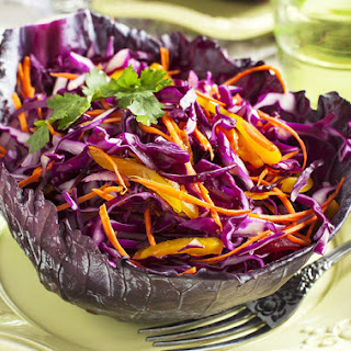 Body Ecology Healthy Red Cabbage Slaw.
