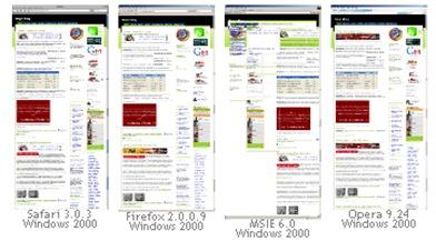 Browser screenshot vista many