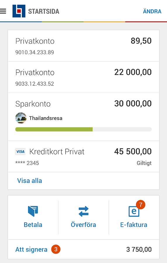 Länsförsäkringar- screenshot