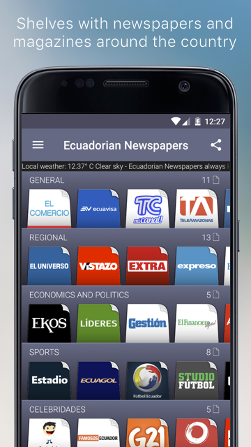 Ecuadorian Newspapers- screenshot