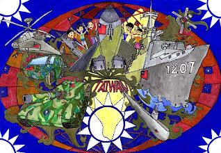 Photo: 民國102年全民國防教育甄選活動得獎繪畫作品欣賞(國中組) 佳作獎 木柵國中 舒O銘