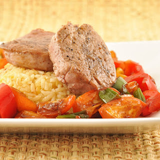 Five-Spice Pork Medallions with Kumquats and Peppers.