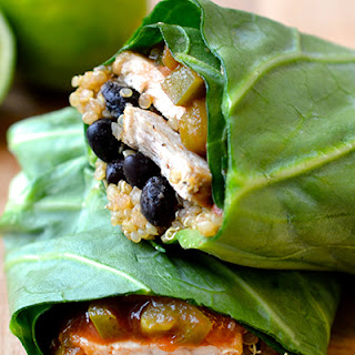 Collard Greens, Quinoa and Chicken Burrito