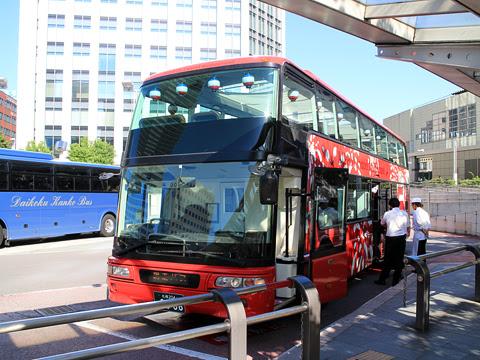 WILLER(網走バス)「レストランバス」 札幌8888 札幌駅北口到着 その1