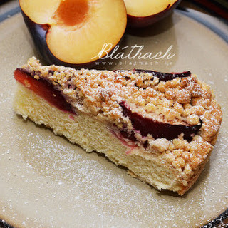 Plum Yeast Cake with Streusel.