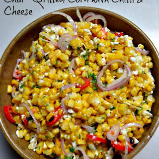 Char-Grilled Corn with Chilli & Cheese.
