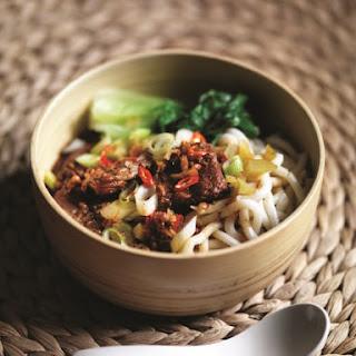 MiMi Aye's Taiwanese Beef Noodle Soup.