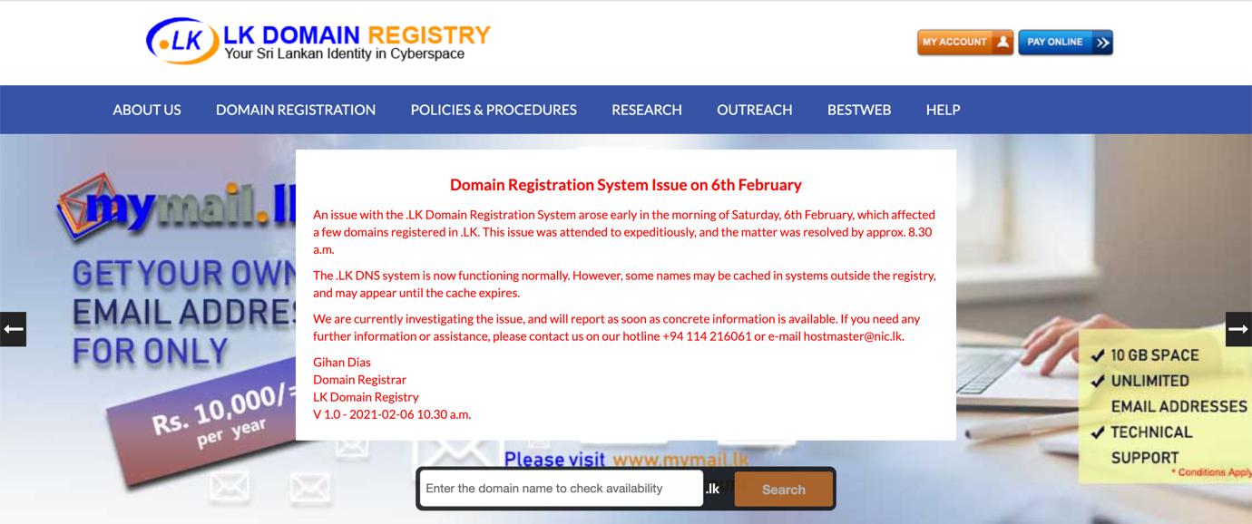 Sri Lanka | LK Domain Registry