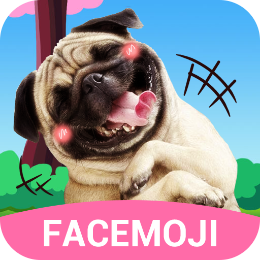 Dog Face Sticker with Lovely Style for Snapchat