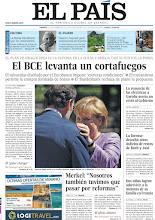 Photo: El BCE levanta un cortafuegos y la renuncia de las eléctricas a Garoña asesta un revés al Gobierno, en la portada de la edición nacional del 7 de septiembre de 2012 http://srv00.epimg.net/pdf/elpais/1aPagina/2012/09/ep-20120907.pdf