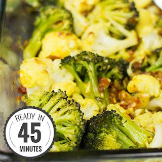 Roasted Broccoli and Cauliflower.