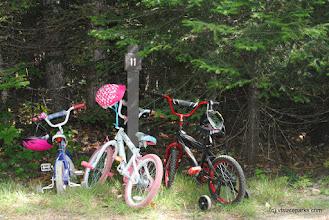 Photo: Three missing bike riders at Big Deer State Park by Nicole Olmstead