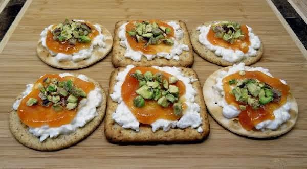 Pistachio, Ricotta And Chutney Appetizer Spread