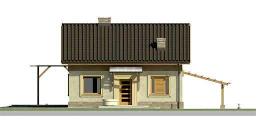 Dom przy Imbirowej - Elewacja przednia