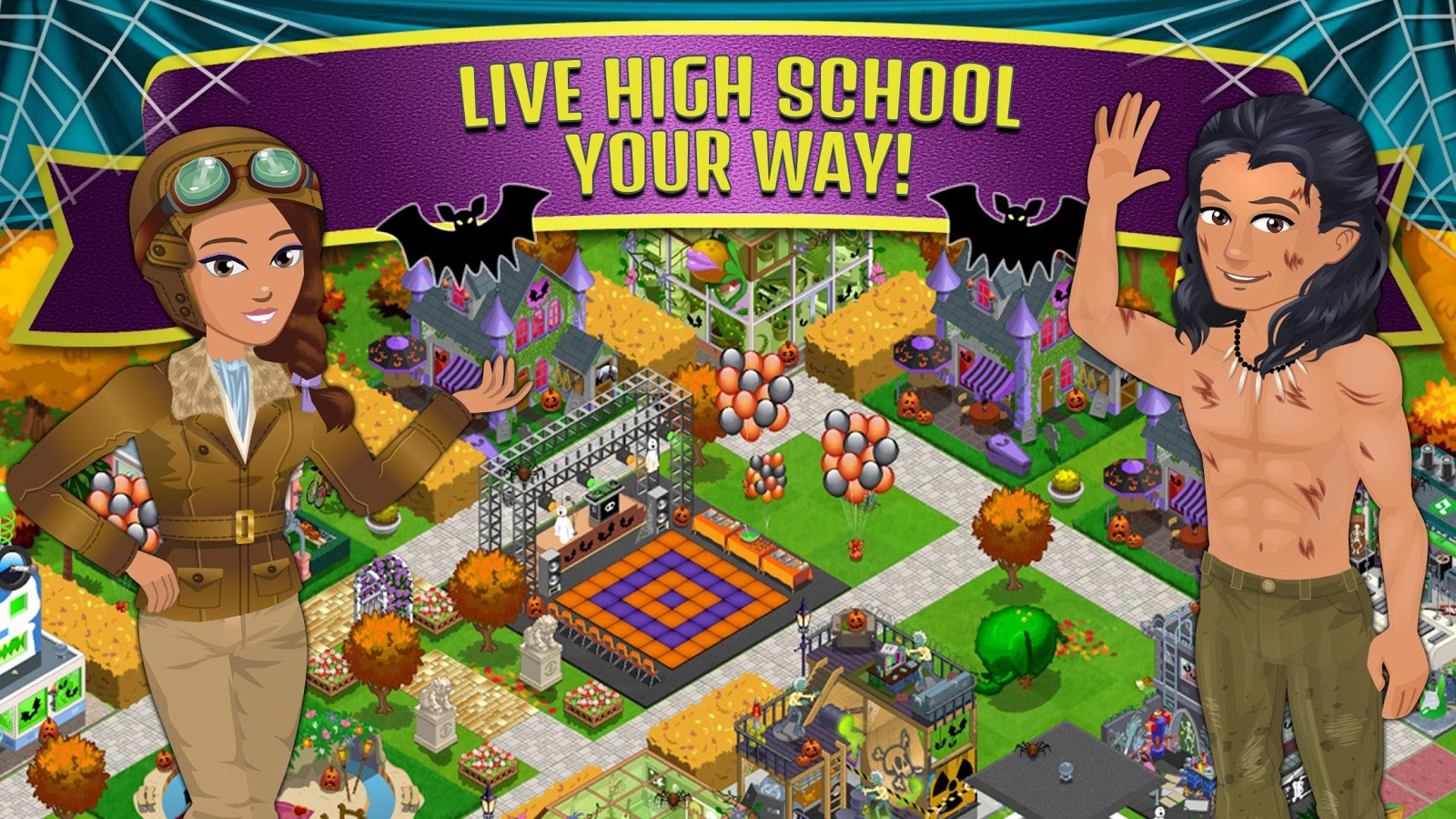 Screenshots of High School Story for iPhone