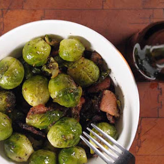 Organic Brussels Sprouts Sautéed with Bacon