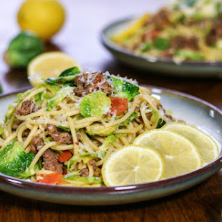 Sausage and Brussels Sprouts Spaghetti