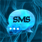Fumée bleue Theme GO SMS PRO icon