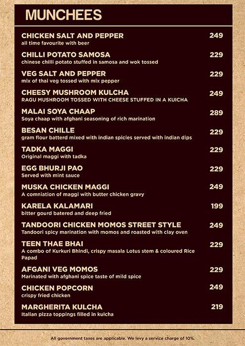 Friction The Drinkery menu 4