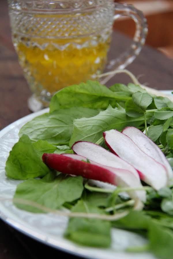 Pea Shoots & Arugula W/meyer Lemon Vinaigrette Recipe