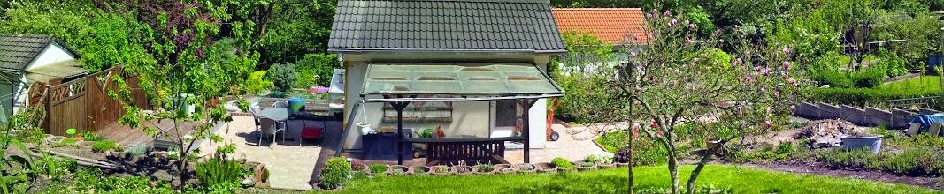 Photo: Die Parzelle 27 des Kleingartenvereins Waldlust e.V. (Fotomontage von Google+).