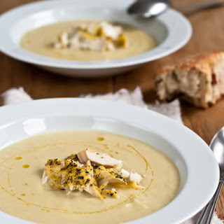 Cream of Fennel Soup with Flaked Cod & Tarragon