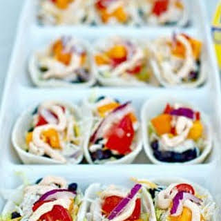 Mini Chicken Taco Boats and Jalapeño Greek Yogurt Dip.