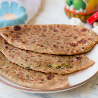 Stuffed Gobi Ka Paratha (Spiced Cauliflower Flat Bread)