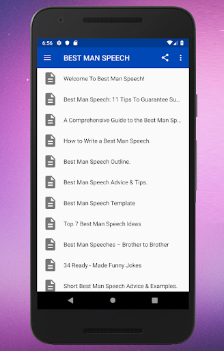 Best Man Speeches App Report on Mobile Action - App Store