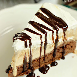 Mocha Brownie Ice Cream Cake.