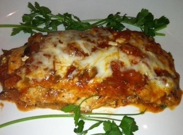 Eggplant Chicken Lasagna Low Fat Recipe