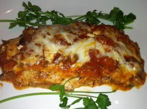 Eggplant Chicken Lasagna Low Fat Recipe