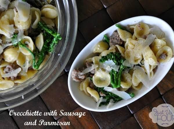 Orecchiette Pasta With Sausage And Parmesan