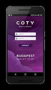 COTY Conferences Application - náhled