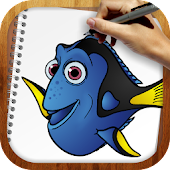 Draw Dory and Nemo