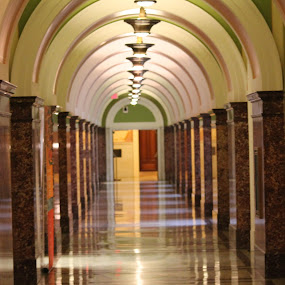 Hallway /Library of Congress  by Anahli Vava - Novices Only Abstract ( dc, of, washington, congress, library, hallway )