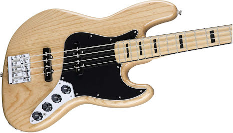 Fender Deluxe Active Jazz Bass Ash Maple Neck Natural