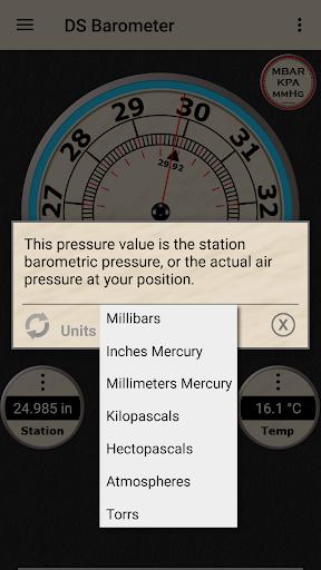 DS Barometer - Altimeter and Weather Information 3.75 screenshots 15