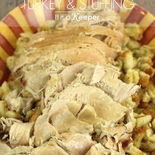 Slow Cooker Turkey & Stuffing.