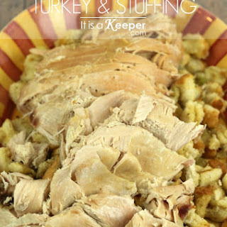 Slow Cooker Turkey & Stuffing.