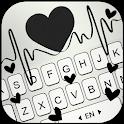Black Heartbeat Keyboard Theme icon