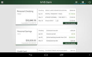 Screenshot of MVB Bank